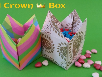 """How to make a """"Tall Crown box"""" - Useful Origami tutorial"""