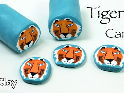 How to make a Tiger millefiori cane - Polymer clay tutorial
