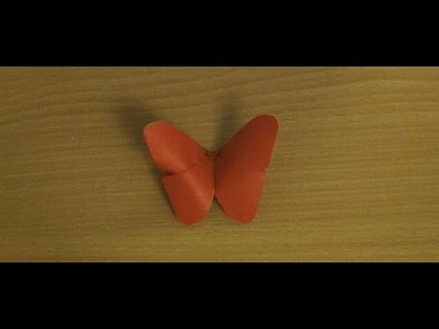 How To Make A Very Easy Origami Butterfly (HD)