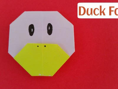 "How to make an easy paper ""Duck Face"" - Origami for Beginners Tutorial"