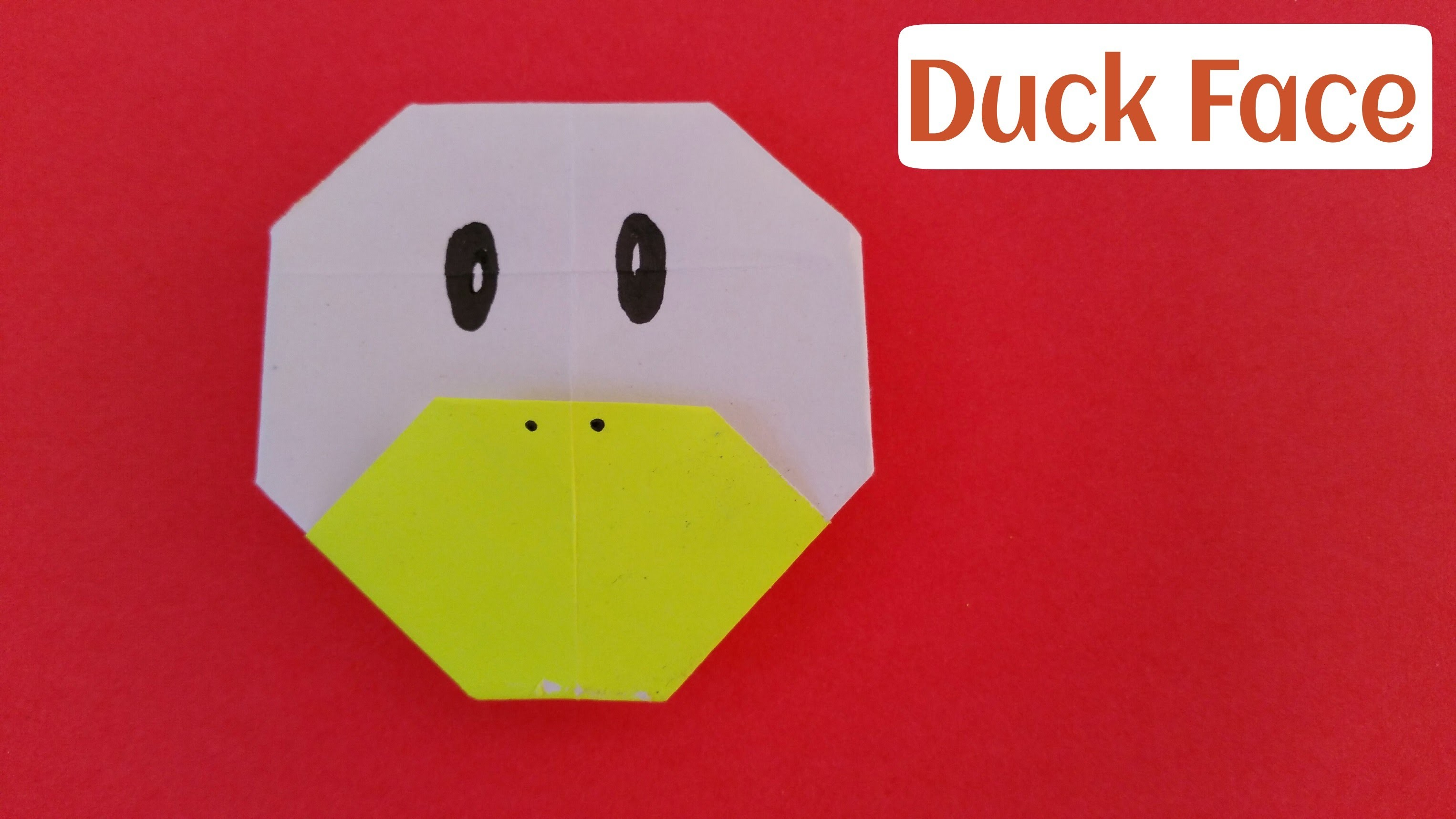 """How to make an easy paper """"Duck Face"""" - Origami for Beginners Tutorial"""