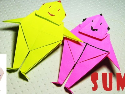 How To Make an Origami Sumo Wrestler - Paper Sumo 1080P