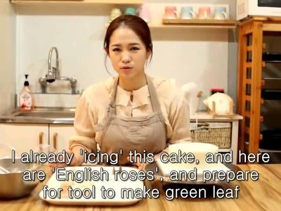 How to make Flower cake. #1 (full process) by g.g cakraft
