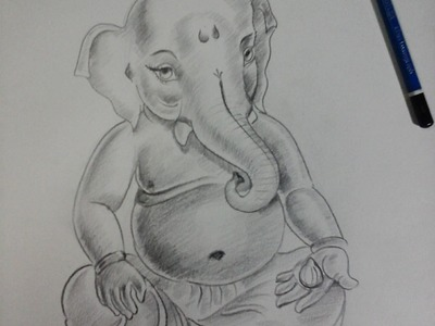 How to Make Ganesha , Bal Ganesha  Sketch  with Pencil Shading   part 4