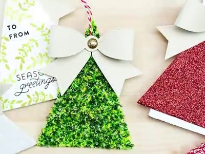 How to Make Gift Tags and Christmas Tree Ornaments using Spellbinders Dies