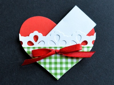 How to Make - Greeting Card Valentine's Day Heart - Step by Step | Kartka Na Walentynki Serduszko