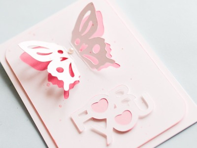 How to Make - Greeting Card With Butterfly - Step by Step | Kartka Z Motylkiem