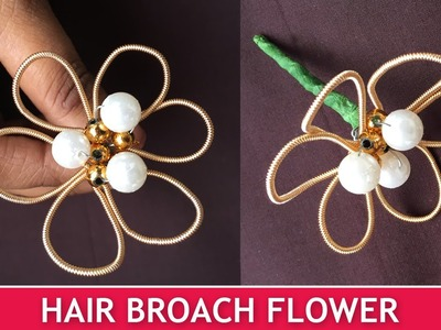 How to make Hair Broach Flowers | Easy Broach Tutorial for Beginners