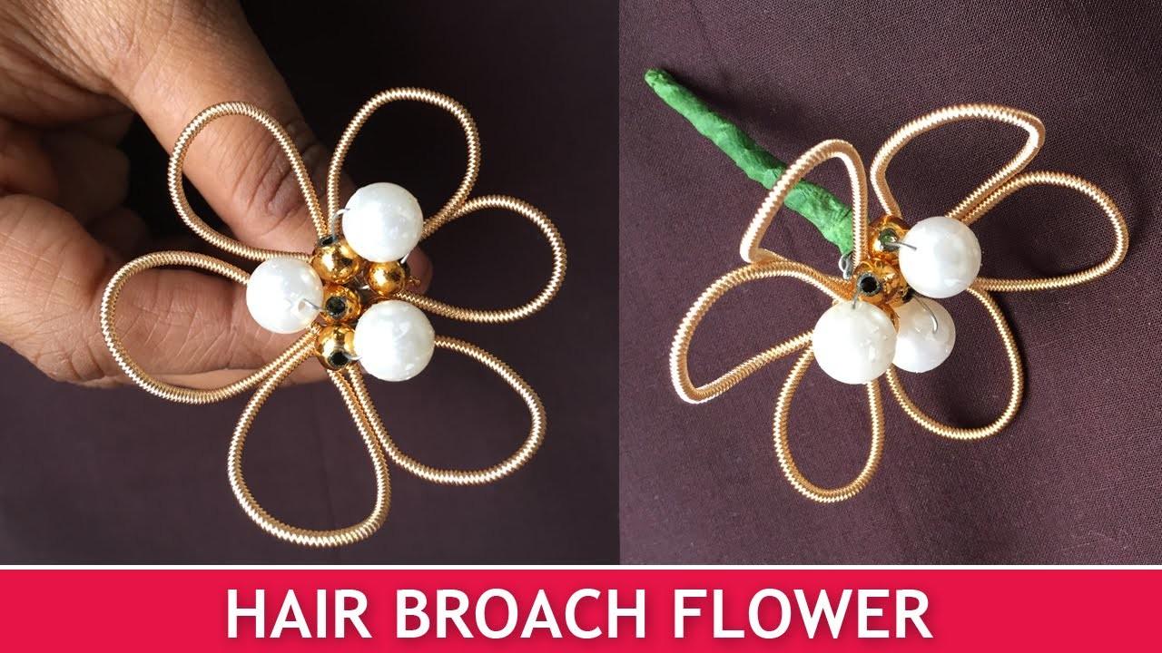 How to make Hair Broach Flowers   Easy Broach Tutorial for Beginners