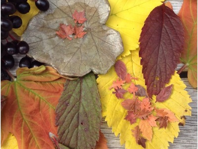 How to make miniature fall leaves