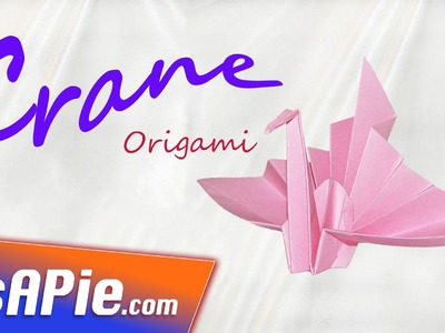 How to make origami CRANE ♡ Origami crane instructions for beginner!