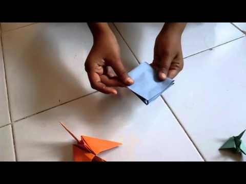 How to make paper bird in hindi