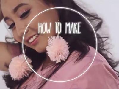 How To Make Pom-Pom Earring