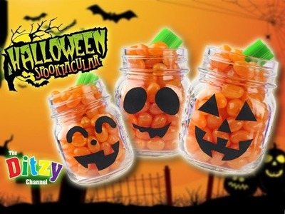 HOW TO MAKE SPOOKY HALLOWEEN Jack-O'Lantern Pumpkin Candy Surprise party favours!