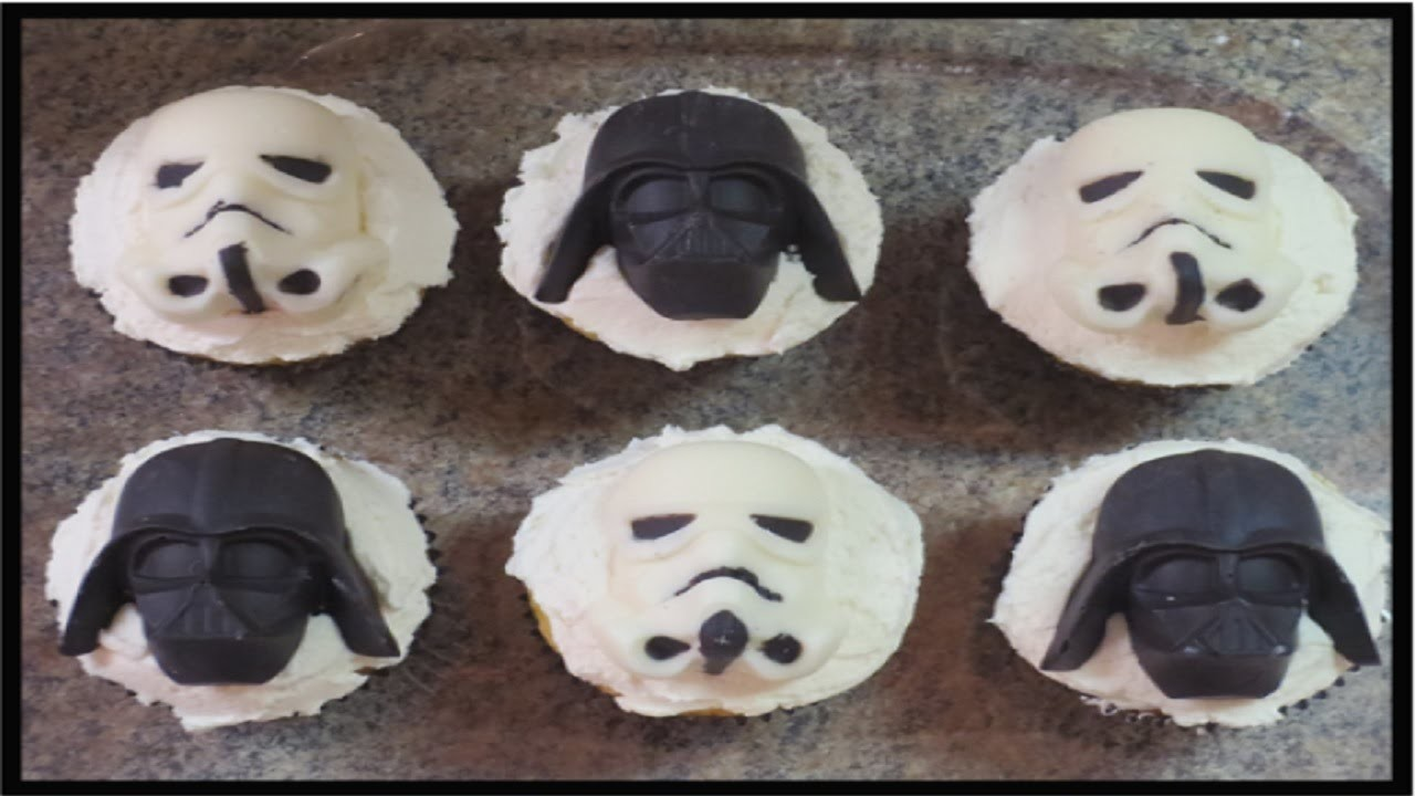 How to Make Star Wars Chocolates & Cupcake Toppers