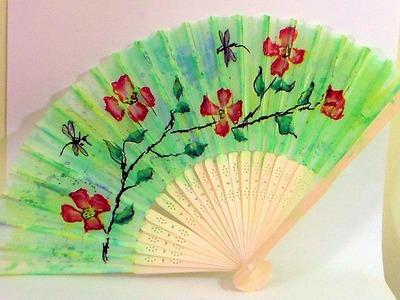 How To Paint a Decorative Fan