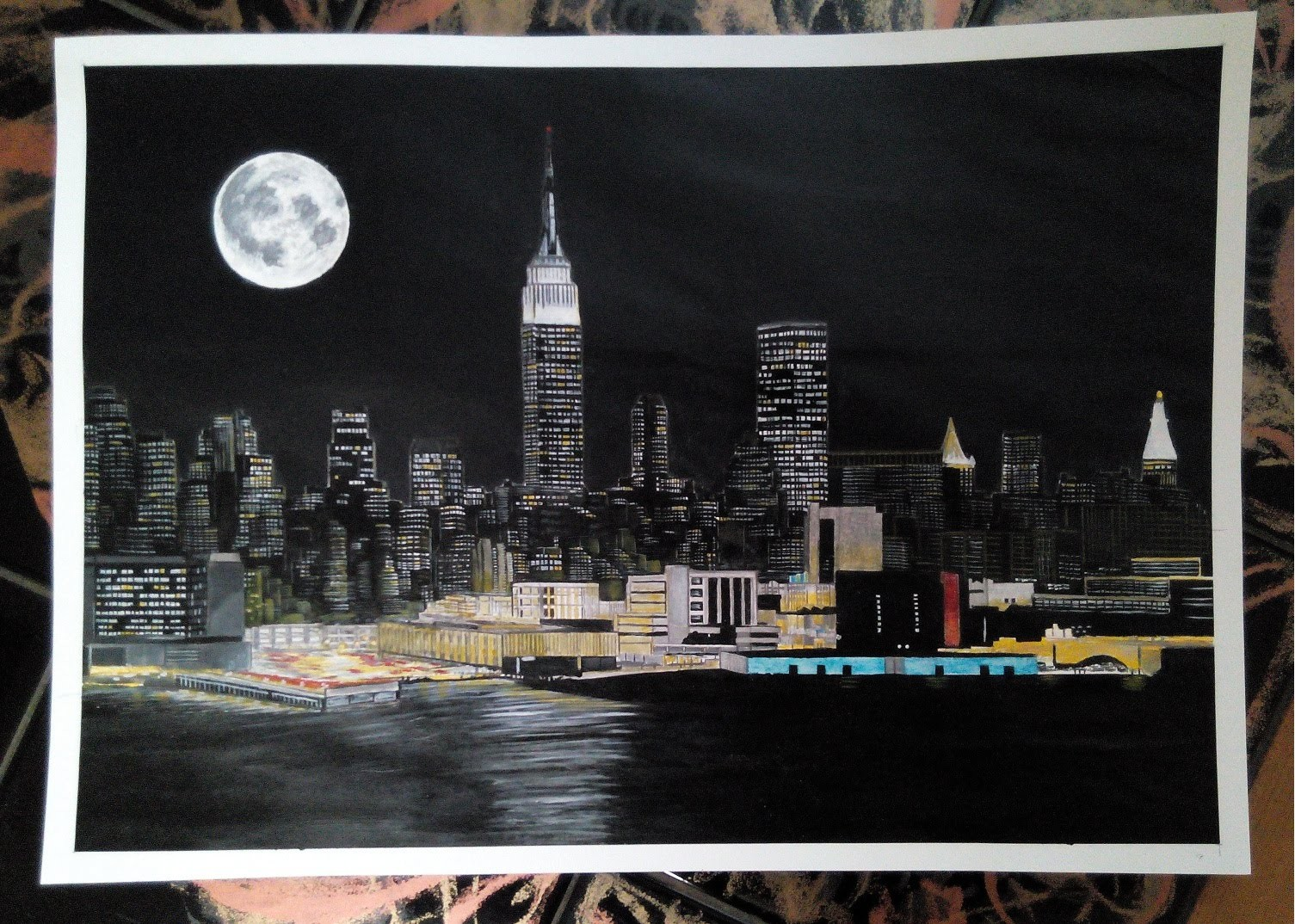 How To Paint a New York - Acrylic Painting Tutorial