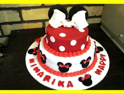 Mickey and Minnie Mouse Theme Cake Tutorial How To Video in Hindi
