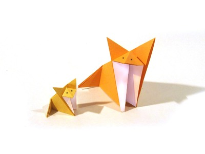 Origami Fox - Easy Origami Tutorial - How to make an origami fox