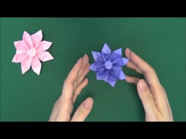 Origami Gerbera Tutorial - How to make Paper Gerbera flower