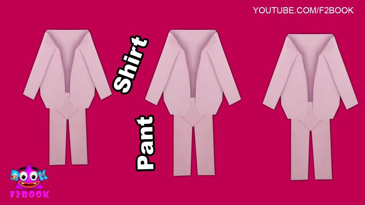 Origami Shirt & Pants  How to Make - origami clothes Easy Tutorial