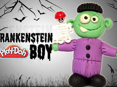 Play Doh Halloween Frankenstein Boy | Frankenstein Boy | How To Make Halloween Frankenstein Boy