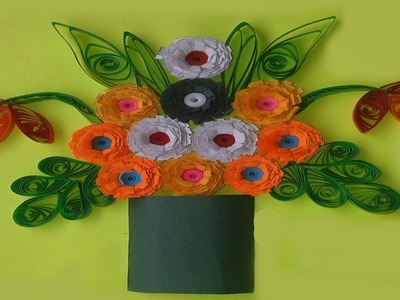 Quilling Made Easy # How to make Beautiful flower greeting card
