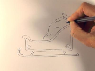 R.E.A.P: How to Draw a Cartoon Santa's Sleigh