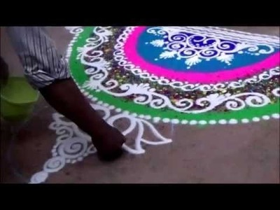 Rangoli for beginners Best rangoli design How to draw rangoli at entrance of house