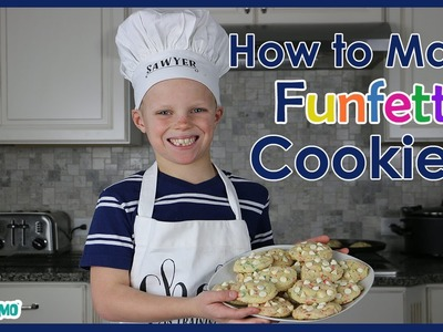 RECIPE: How to Make Funfetti Cheesecake Cookies with Kid Chef Sawyer