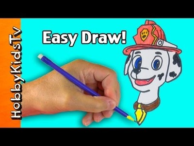 Speed Draw Marshall of Paw Patrol! Arts 'n Crafts Fun - How to by HobbyKidsTV