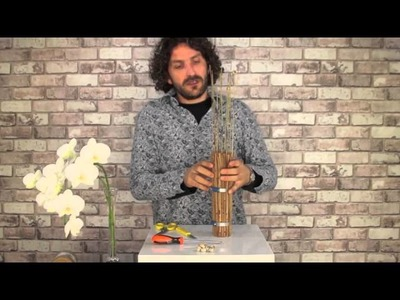 Sticks and orchids design | Flower Factor How To | Single flower arrangement