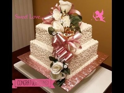 Wedding Cake Decorating Tutorial: How To