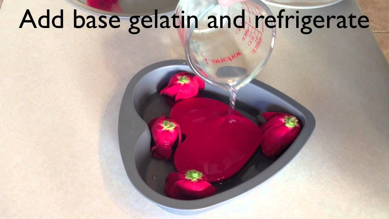 3D Gelatin  How to encapsulated natural edible roses
