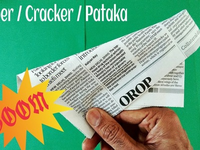 "Action Fun Origami - News Paper ""Popper.Cracker.Pataka"" (Loud and Easy)-Diwali Special."
