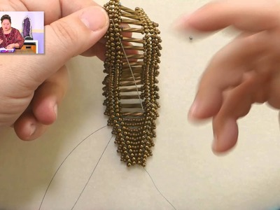 Beadweaving Basics: How to End Off and Add Thread in Herringbone