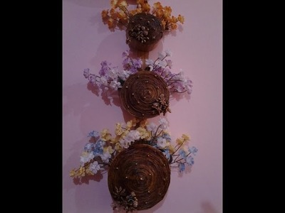 Best Out Of Waste Paper 3 tier Wall Hanging flower basket