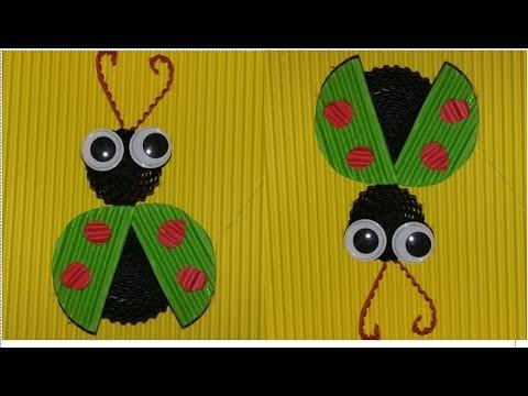 DIY beetle from corrugated paper. kokoru paper (simple and easy)