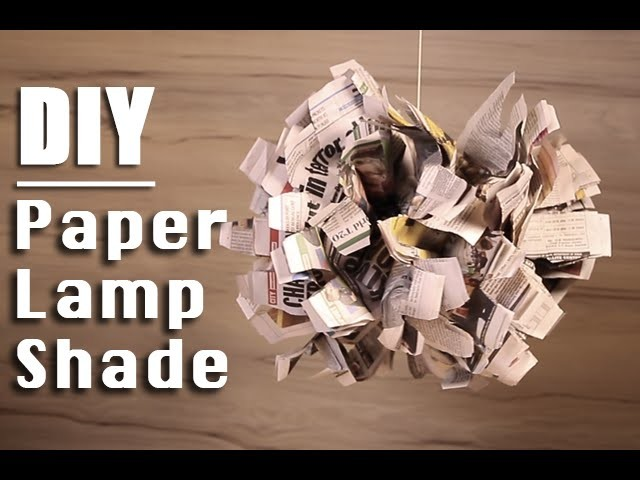 DIY Paper Lamp Shade | Easy Step By Step