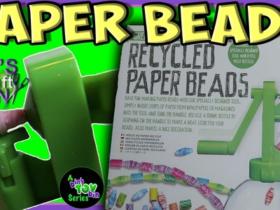 Green Creativity Recycled Paper Beads!! Make your own beads out of paper!!! Bins Crafty Bin