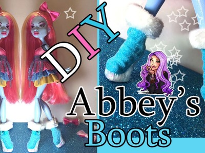 How to customize glitter & flock  Monster High Abbey Boots