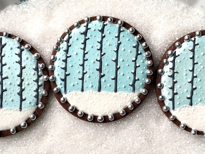 How To Decorate Snowy Forest Cookies With Royal Icing
