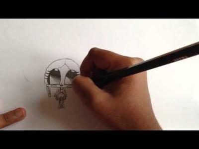 How to draw cute little girl's picture (Step-by-step)