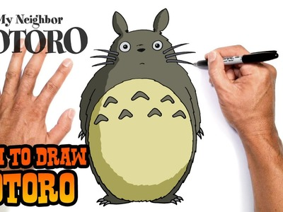 How to Draw Totoro- Step by Step Drawing Lesson for Kids