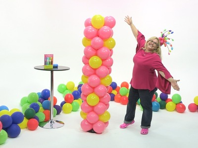 How to Make a Balloon Tower in a Polka Dot Pattern