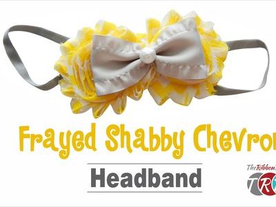 How to Make a Frayed Shabby Chevron Headband - TheRibbonRetreat.com