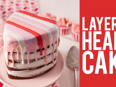 How to Make a Layered Heart Cake for Valentine's Day