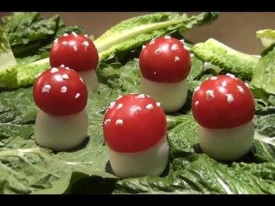 How to Make a Mushroom shaped Eggs & Tomatoes Salad