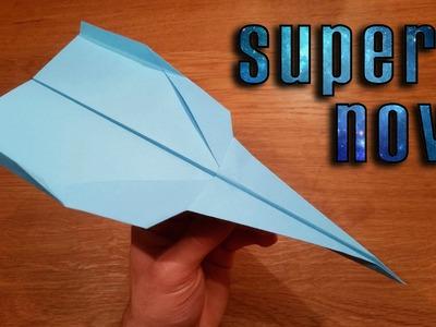 How To Make a Paper Airplane That Flies Far | Supernova