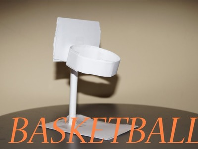 How To Make a Paper Basketball Hoop using A4 Paper
